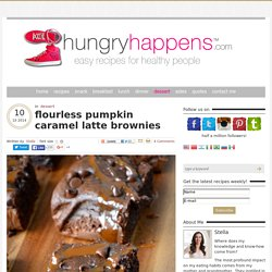 flourless pumpkin caramel latte brownies