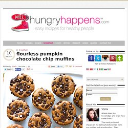 flourless pumpkin chocolate chip muffins - Hungry Happens!