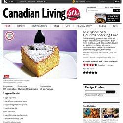 Orange Almond Flourless Snacking Cake recipe