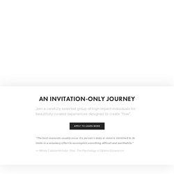 Flow Journeys