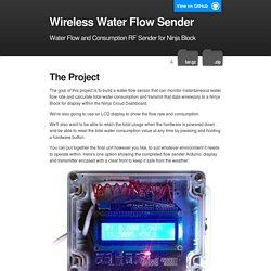 Flow sender
