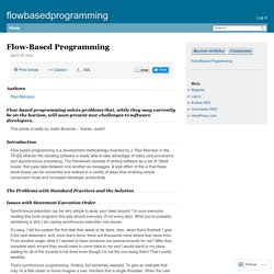 Google Knol on Flow-Based Programming