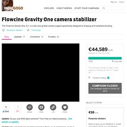 Flowcine Gravity Un estabilizador de cámara