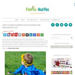 Make a Flower Chain Crown | Fireflies and Mud Pies