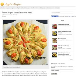 Flower Shaped Savory Decorative Bread – Aayis Recipes