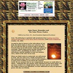 Bach Flower Remedies and the Solar Plexus Chakra