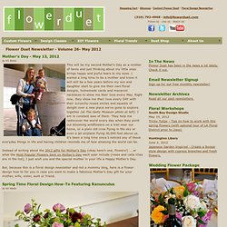 Floral Newsletter May 2012 - Mother's Day Flowers How-To - Lilacs - Floral Knife