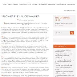 """""""Flowers"""" by Alice Walker"""