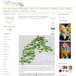 Spring Flowers. Free Crochet Scarf Pattern