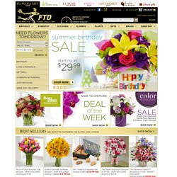 FTD.com - Flowers Online | Roses, Fresh Flowers, Plants and Gift Baskets | Same Day Flower Delivery