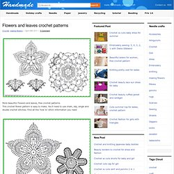flowers and leaves crochet patterns