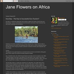 Jane Flowers on Africa: Kosi Bay - The Key to Successful Eco-Tourism?