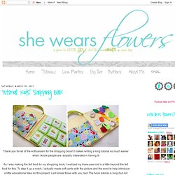 she wears flowers: Tutorial: Kids' Shopping Book