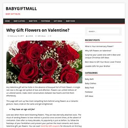 Why Gift Flowers on Valentine? – BabyGiftMall