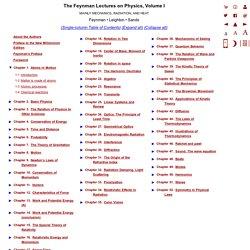 FLP Vol. I Table of Contents