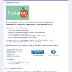 Overview - Welcome to Flubaroo