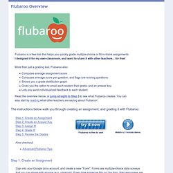 Flubaroo Overview - Welcome to Flubaroo