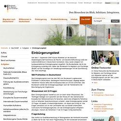 Bundesamt für Migration und Flüchtlinge - Einbürgerungstest
