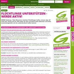 Die Grünen Salzburg - Flüchtlinge unterstützen - werde aktiv!