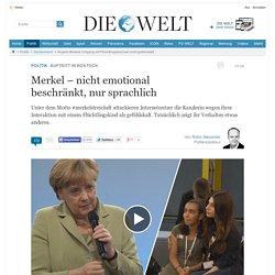 Angela Merkels Umgang mit Flüchtlingskind war nicht gefühlskalt