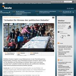 """Rhetorik in der Flüchtlingskrise: """"Schaden für Niveau der politischen Debatte"""""""