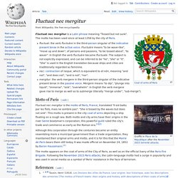 Fluctuat nec mergitur - Wikipedia