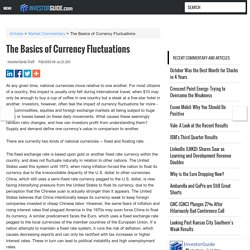 The Basics of Currency Fluctuations