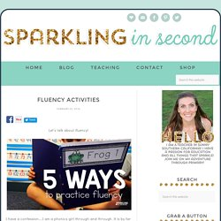 Fluency Activities - Sparkling in Second Grade