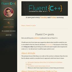 Fluent C++ posts - Fluent C++