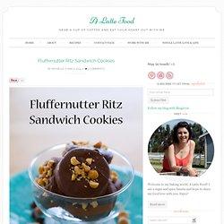 Fluffernutter Ritz Sandwich Cookies