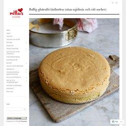 Fluffig glutenfri tårtbotten (utan mjölmix och vitt socker)