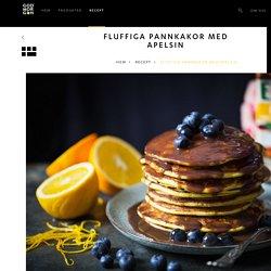 Fluffiga pannkakor med apelsin