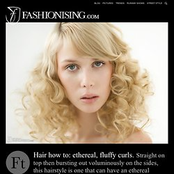 Fluffy curls hairstyle: how to