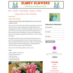Fluffy Flowers: Flower Pen Tutorial