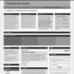Fluid 960 Grid System