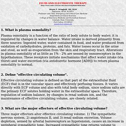 FLUID AND ELECTROLYTE THERAPY