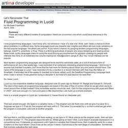 Fluid Programming in Lucid