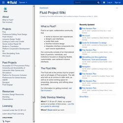 Fluid Project Wiki - Fluid - Fluid Project Wiki