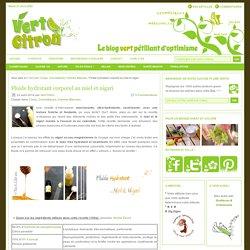 Fluide hydratant corporel au miel et nigari : Vert-Citron