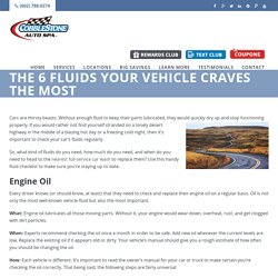 The 6 Fluids Your Vehicle Craves the Most