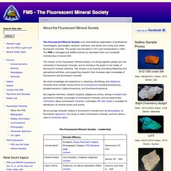 About the Fluorescent Mineral Society