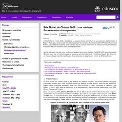 Prix Nobel de Chimie 2008 : une méduse fluorescente récompensée.