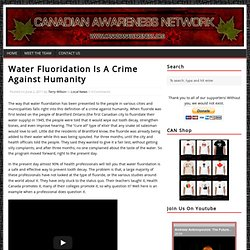 Water Fluoridation Is A Crime Against Humanity