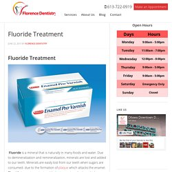 Fluoride Treatment - Ottawa Downtown Dentist