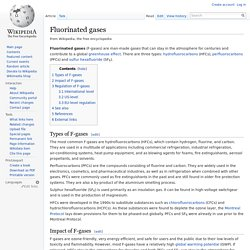 Fluorinated gases