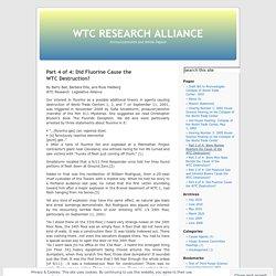 Part 4 of 4: Did Fluorine Cause theWTCDestruction?