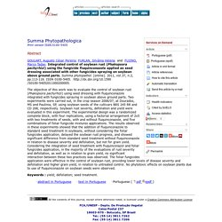 Summa phytopathol. [online]. 2011, vol.37, n.2, pp. 113-118. Integrated control of soybean rust (Phakopsora pachyrhizi) using the fungicide fluquinconazole applied as seed dressing associated with other fungicides spraying on soybean above ground parts.