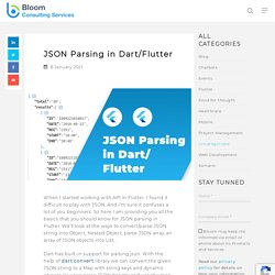 How to Parse JSON in Dart/Flutter