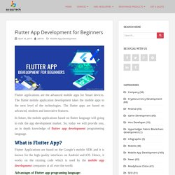 Flutter App Development for Beginners
