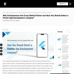 How to Choose Best Flutter App Development Company?